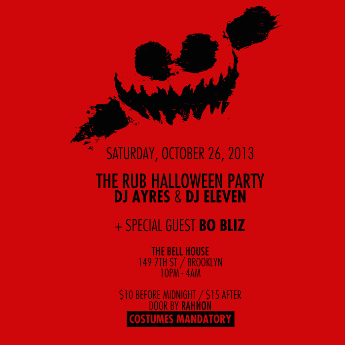 the rub the rub halloween flyer